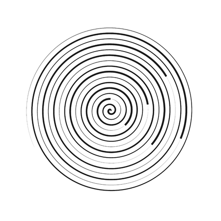 Spiral element vector illustration. Circles geometric element. Concentric backgrounds