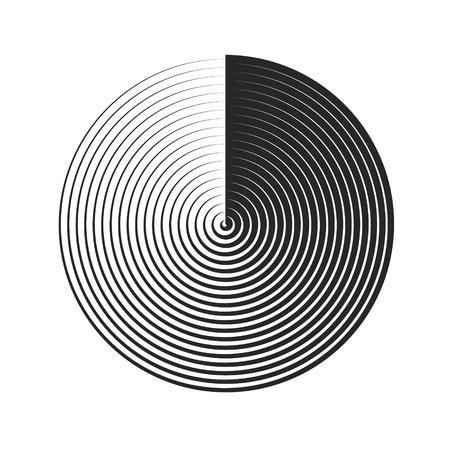 Vector illustration. Circles geometric element. Halftone backgrounds. Radial element Illustration