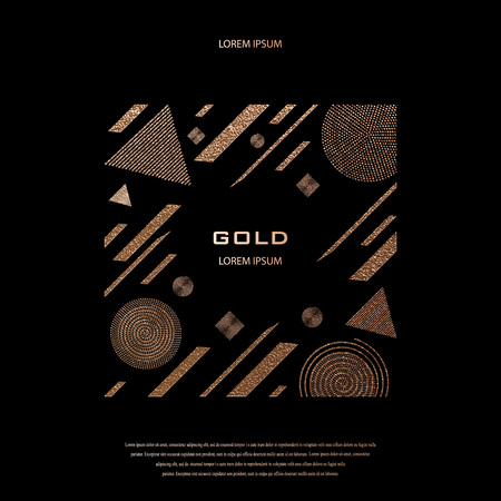 Blush gold pattern. Abstract golden quartz background. Vector illustration. Copper foil line. Bronze glitter stripes. Geometric pattern. Creative stylish texture. Abstract minimal backdrop Banque d'images - 109427496