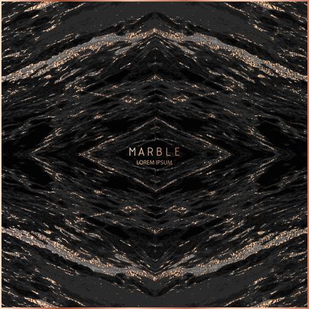 Marble with Gold, Sparkles background . Golden effect. Marbled grunge design. Patina element design. Copper foil. Bronze glitter texture. Blush gold vintage illustration. Ilustração