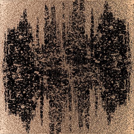 Blush gold. Abstract golden quartz background. Vector illustration. Copper foil. Bronze glitter grunge texture. Patina scratch, cracks golden elements. Vintage illustration. Illustration