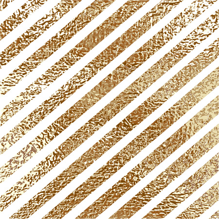 Blush gold pattern. Abstract golden quartz background. Vector illustration. Copper foil diagonal line Bronze glitter stripes Geometric pattern. Stylish texture Abstract minimal backdrop Patina effect.
