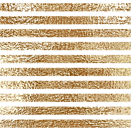 Blush gold pattern. Abstract golden quartz background. Vector illustration. Copper foil line Bronze glitter stripes Geometric pattern. Stylish texture Abstract minimal backdrop Patina effect.