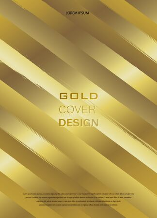 Gold pattern. Abstract golden background. Vector illustration. Copper foil diagonal lines Bronze glitter stripes Geometric pattern. Stylish texture Abstract minimal backdrop Glittering effect.
