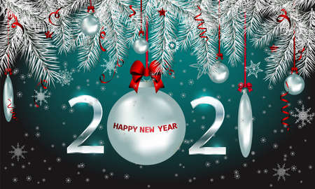 Vector 2018 Happy New Year holiday banner with sparkling glitter golden textured snowflake and figures. Seasonal holidays background. New Year greeting card Ilustracja