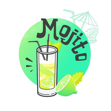 pina: Vector illustration of eight popular alcoholic cocktails: Bloody Mary, Tequila Sunrise, Mojito, Cosmopolitan, Pina Colada, Caipirinha, Mai Tai, Margarita