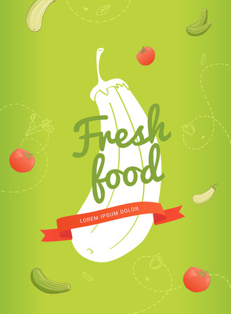 vector llustrations for flyer with different vegetable