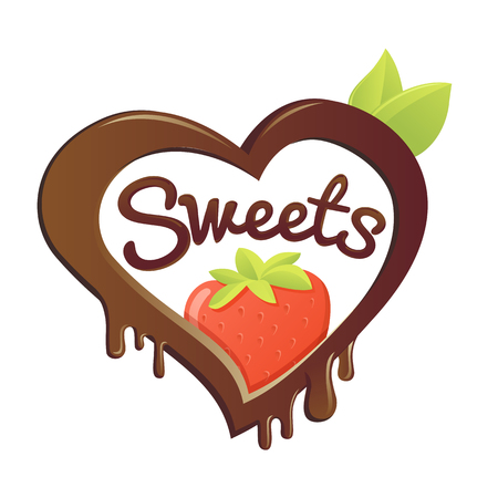 sweet love: sweet love. strawberry in chocolate.