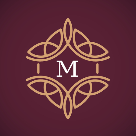 simple design ornament. vector illustration luxury monogram