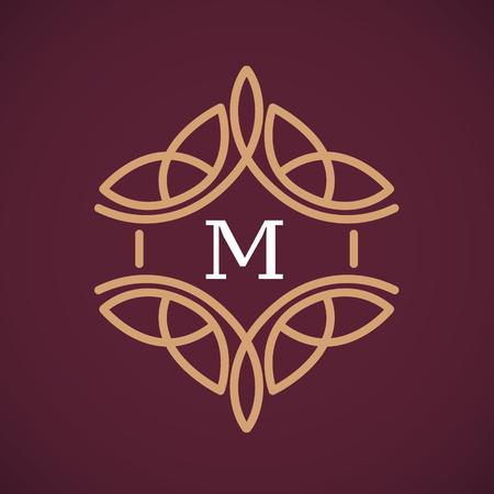 simple design ornament. vector illustration luxury monogram