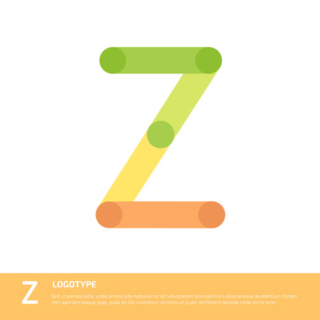 Vector abstract letter W logo template. Illustration