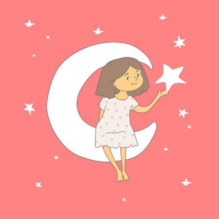 girl on the moon holding a star in the palm of your hand