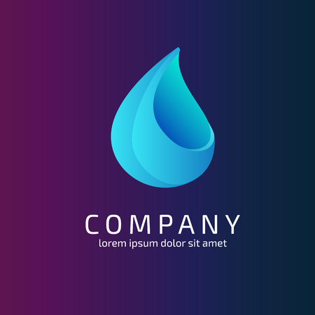 waterdrop: Abstract 3d logo waterdrop