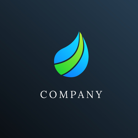 waterdrop: Abstract logo waterdrop
