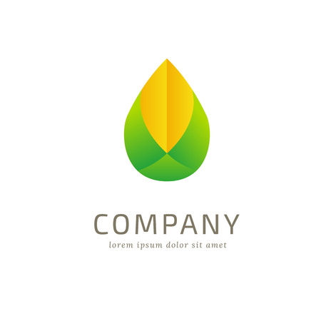 curving: Abstract logo sprout Illustration