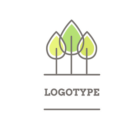 growing plant: Vector abstract nature logo template.