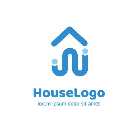 logotype: Illustration design of logotype abstract building location