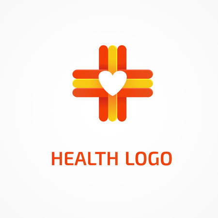 compassionate: Illustration design of cross health flat symbol colorfull