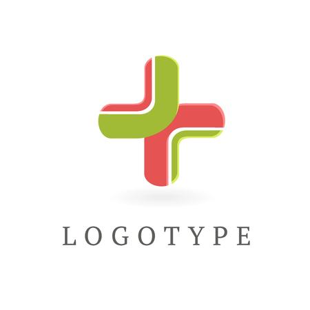 diseño de ilustración de símbolo de cruz plana de salud colorido