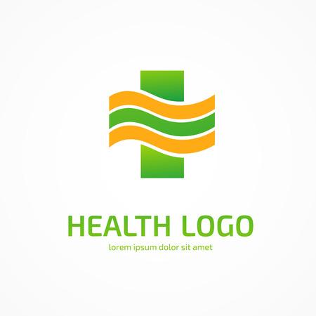 Illustration design of cross health flat symbol colorful Illustration