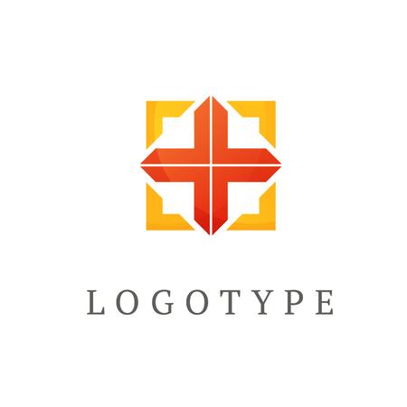 Logo design abstract medical vector template