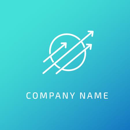 Illustration design of business progress arrow flat simple sign