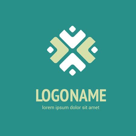 Illustration design logotype weave flat simple sign