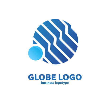 A Logo design Earth vector template flat simple sign Illustration