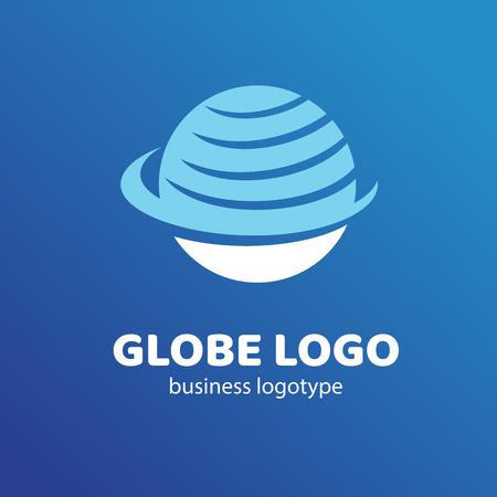 A Logo design Earth vector template flat simple sign Vectores