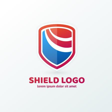Illustration design of logotype business protection flat symbol Illustration