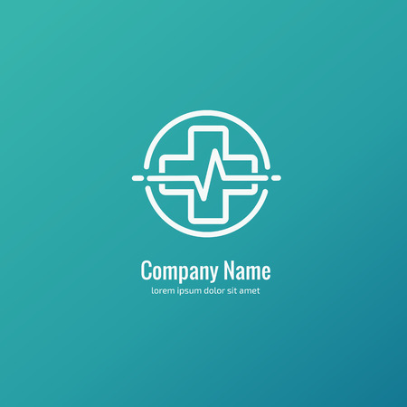 Logo design abstract medical vector template. Illustration design of logotype cross health symbol.