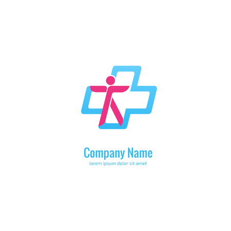 Logo design abstract medical vector template. Illustration design of logotype cross health symbol. 版權商用圖片 - 98087129