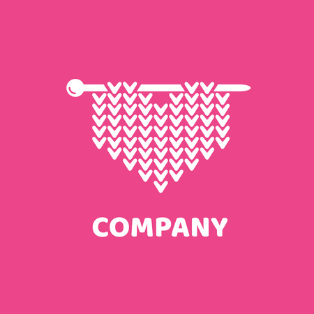 Illustration design of logotype woman hobby flat symbol.