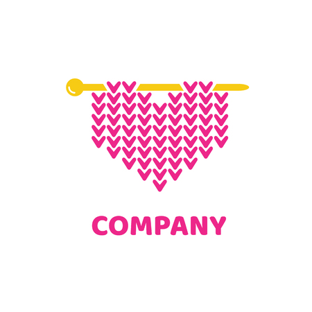 Illustration design of logotype woman hobby flat symbol.