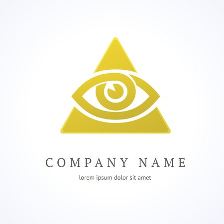 Illustration design of logotype business oculist clinic flat symbol. Eye and cross web icon. Correction of vision pictogram