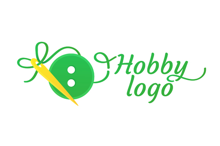 Logo design Sewing and embroidery vector template.