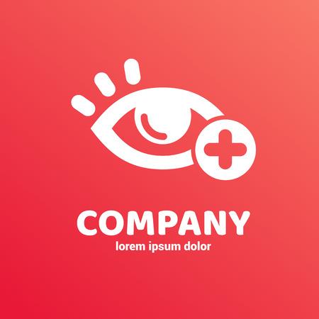 Logo design ophthalmologist vector template. Illustration