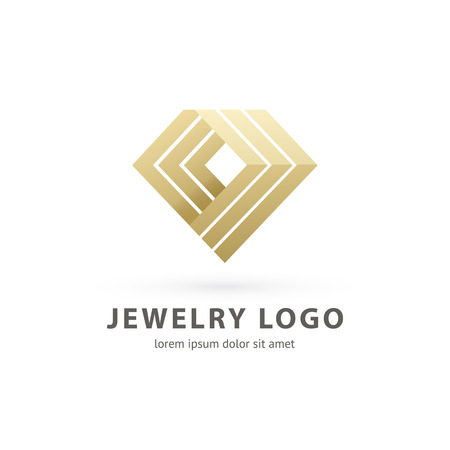 Illustration design of logotype business luxury jewelry symbol. Vector diamond accessories line web icon.