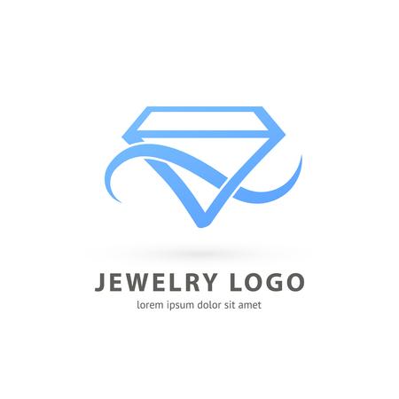 Illustration design of logotype business luxury jewelry symbol. Vector diamond accessories web icon. 일러스트