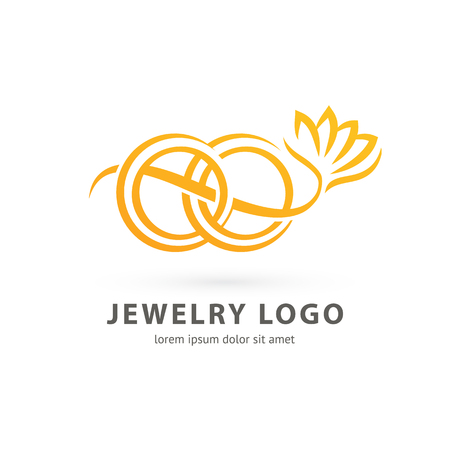 Illustration design of logotype business luxury jewelry symbol. Vector diamond ring web icon. Vectores