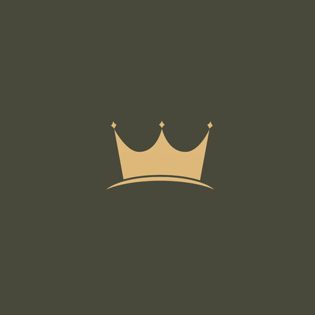 Illustration design of elegant, premium and royal logotype queen and king crown on a dark background. Vector icon of wedding.