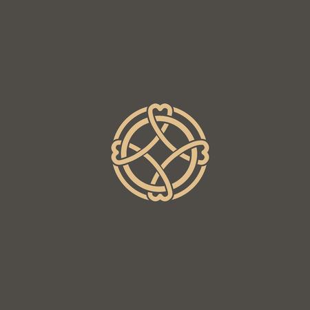Simple Line Art Ornate Design. Vintage geometric Vector Illustration. Stockfoto - 101340740