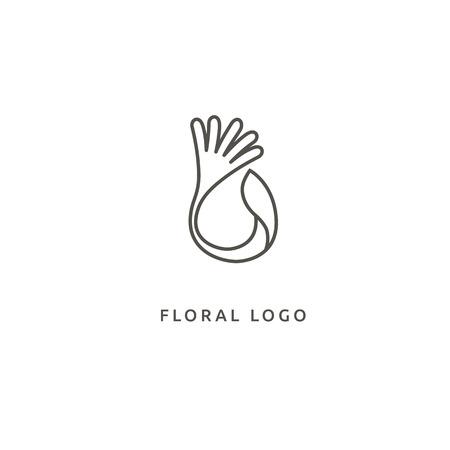 Cosmetics, Spa, Beauty salon Decoration Boutique vector logo Illustration