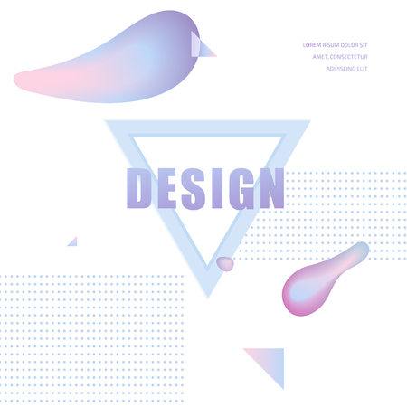 Modern Glamor template for banner, flyer, card, invitations, brochure and poster abstract element Illustration