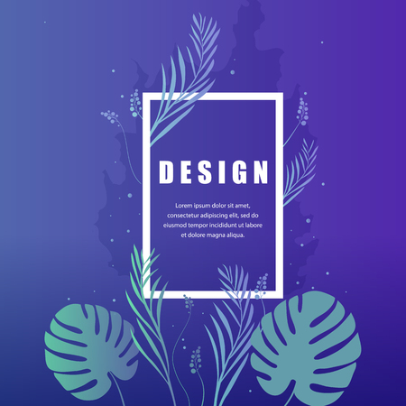 Modern nature dark template for banner, flyer, card, invitations, brochure and poster plant element