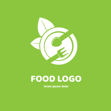 Graphic fork icon symbol for cafe, restaurant, cooking business. Modern catering label, emblem, badge 向量圖像