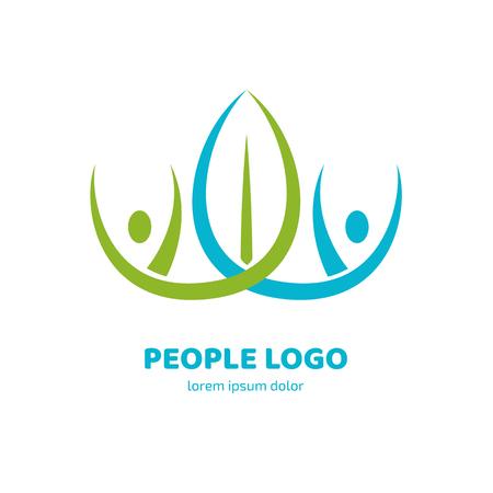 Illustration design of logotype business relaxation symbol. Vector happy man web icon.