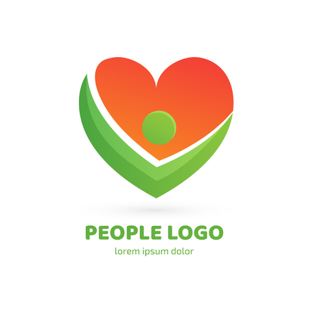 Illustration design of logotype business family symbol. Vector happy man web icon.  イラスト・ベクター素材