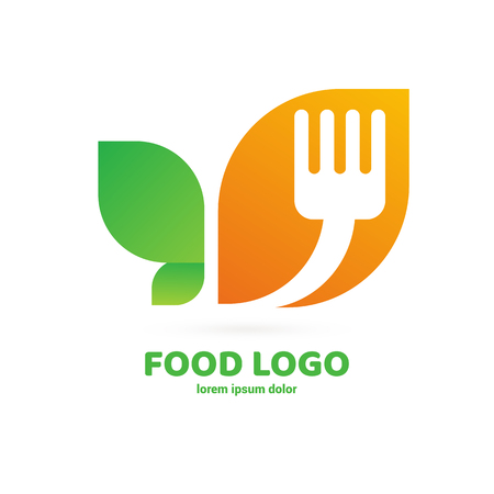 Vector design cooking logo. Food pictogram, cooking abstract icon 向量圖像