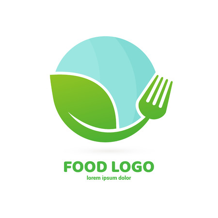 Vector design cooking logo. Food pictogram, cooking abstract icon Vettoriali
